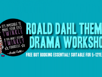 Roald Dahl Drama Workshop for kids at dlr Mill Theatre, Dundrum, south Dublin
